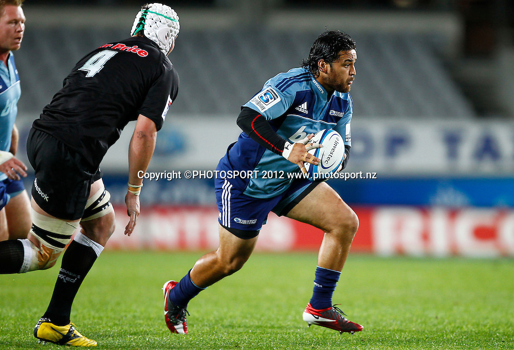 Piri Weepu of the Blues during the Super Rugby game between The Blues and The Sharks at Eden Park, Auckland New Zealand, Friday 13 April 2012. Photo: Simon Watts / photosport.co.nz