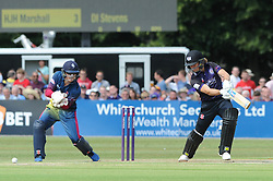 Hamish Marshall of Gloucestershire bats before being forced to retire after 1.2 overs after picking up an injury - Photo mandatory by-line: Dougie Allward/JMP - Mobile: 07966 386802 - 12/07/2015 - SPORT - Cricket - Cheltenham - Cheltenham College - Natwest Blast T20
