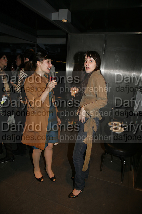 Skye Sherwin and Ana Finel-Honigman, Art Monthly 30th birthday party. Hayward Gallery. 26 October 2006. -DO NOT ARCHIVE-© Copyright Photograph by Dafydd Jones 66 Stockwell Park Rd. London SW9 0DA Tel 020 7733 0108 www.dafjones.com