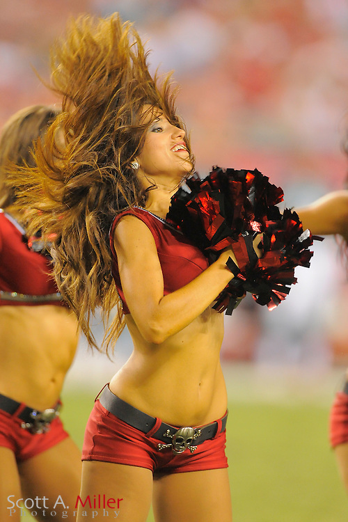 Tampa Bay Buccaneers cheerleaders during the Bucs game against the Miami Dolphins at Raymond James Stadium on Aug. 27, 2011 in Tampa, Fla...©2011 Scott A. Miller