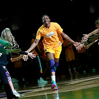 22 June 2014: forward Nneka Ogwumike (30) of the Los Angeles Sparks is seen during the players introduction prior to the San Antonio Stars 72-69 victory over the Los Angeles Sparks, at the Staples Center, Los Angeles, California, USA.