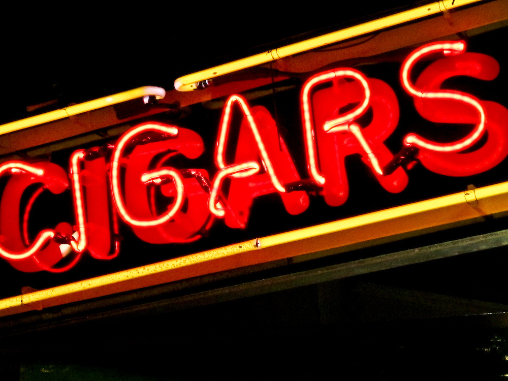 Neon sign in Key West Florida advertising cigars
