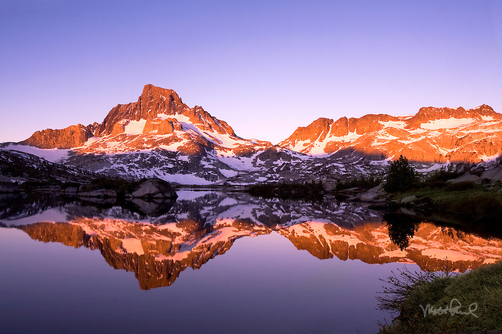 Spent the weekend exploring part of the Ansel Adams wilderness, attempting to get a Thousand Island Lake sunrise shot. Exploring this area on the backside of Mammoth was always on the list. It was a little bit of a trek to get out there climbing up 3,000 feet in elevation gain but well worth the sore muscles. That morning the water was perfectly still as I shot Banner Peak with the alpenglow.