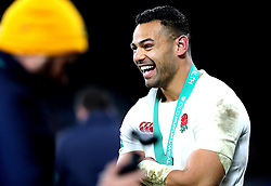 Ben Te'o of England smiles - Mandatory by-line: Robbie Stephenson/JMP - 03/12/2016 - RUGBY - Twickenham - London, England - England v Australia - Old Mutual Wealth Series