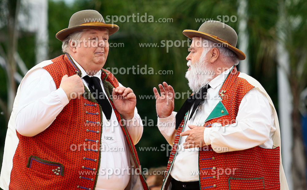 14.06.2015, Europapark, Rust, GER, ARD TV Show, Immer wieder Sonntags, im Bild Wolfgang Schwalm links, Wilfried Gliem rechts, // during the ARD TV Show &quot;Immer wieder Sonntags&quot; at the Europapark in Rust, Germany on 2015/06/14. EXPA Pictures &copy; 2015, PhotoCredit: EXPA/ Eibner-Pressefoto/ Goermer<br /> <br /> *****ATTENTION - OUT of GER*****
