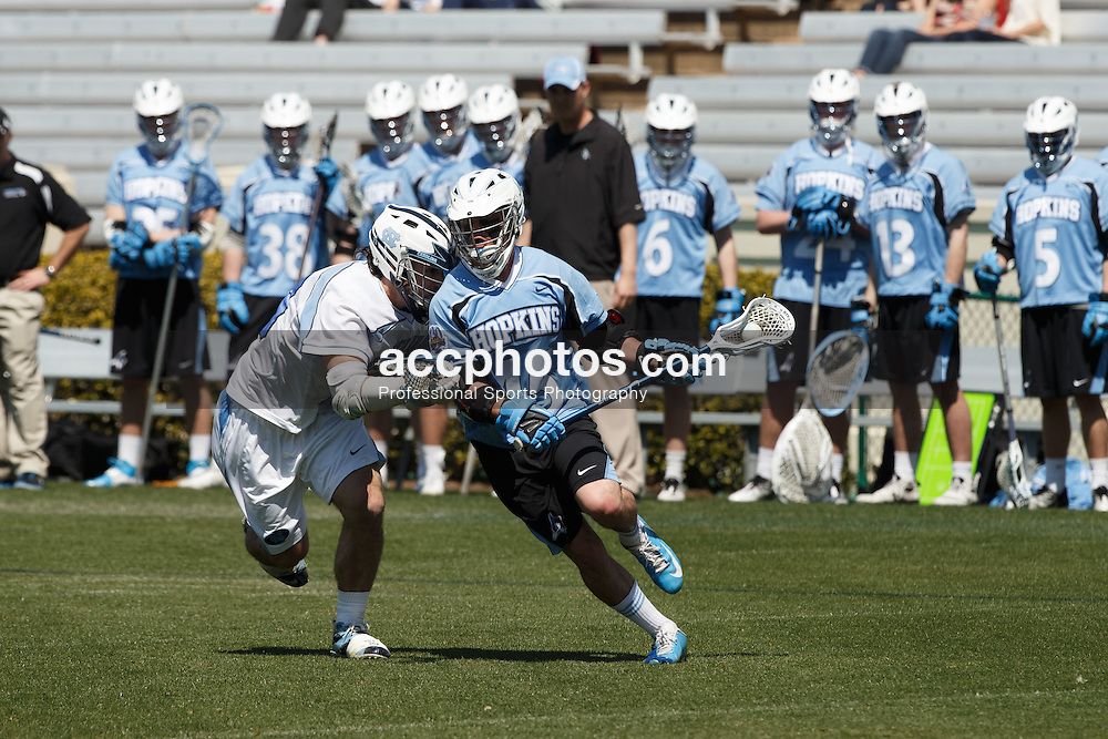 2013 March 30: Zach Palmer #45 of the Johns Hopkins Blue Jays during a 10-11 win in overtime loss to the North Carolina Tar Heels at Kenan Stadium in Chapel Hill, NC. (Peyton Williams/Inside Lacrosse)