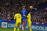 PARIS, FRANKRIKE - 2016-11-11: Antoine Greizmann under VM-kvalmatchen mellan Frankrike och Sverige p&aring; Stade de France, Paris, den 11 november 2016.<br /> Foto: Nils Petter Nilsson/Ombrello<br /> ***BETALBILD***