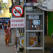 Street Scene in Mae Sot, Thailand,