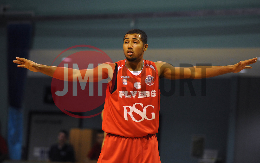 Bristol Flyers' Dwayne Lautier-Ogunleye - Photo mandatory by-line: Dougie Allward/JMP - Mobile: 07966 386802 - 31/10/2014 - SPORT - Football - Worcester - Worcester Arena - Worcester Wolves v Bristol Flyers - British Basketball League Cup