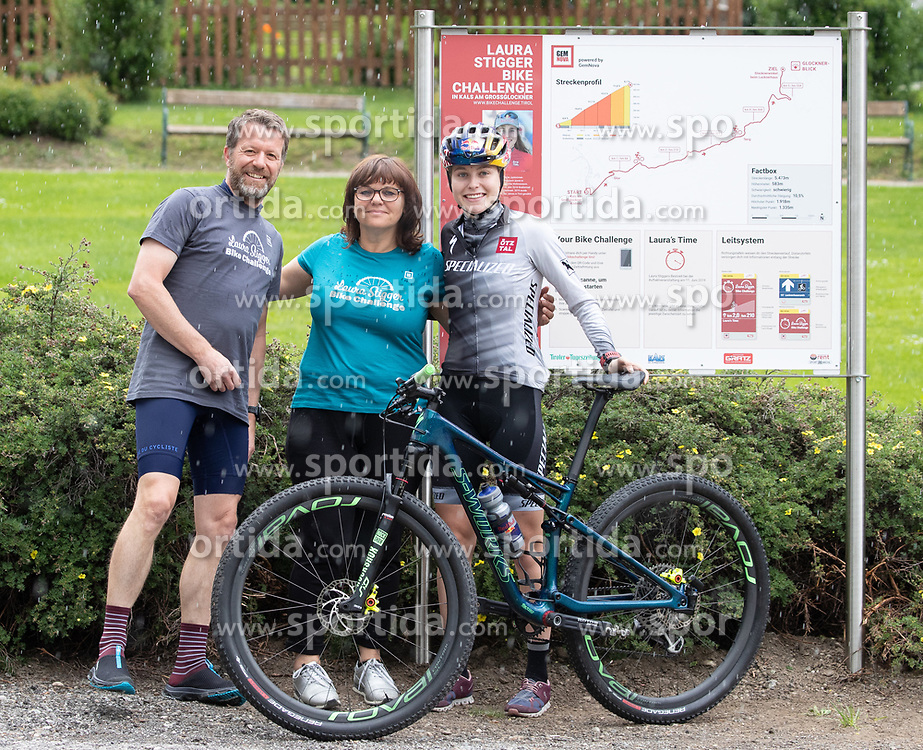 11.06.2019, Kals am Grossglockner, AUT, Laura Stigger Bike Challenge, Pressekonferenz, im Bild BGM Erika Rogl, Laura Stigger // major Erika Rogl and Laura Stigger during a press conference for the Laura Stigger Bike Challenge in Kls am Grossglockner. Austria on 2019/06/11. EXPA Pictures © 2019, PhotoCredit: EXPA/ Johann Groder