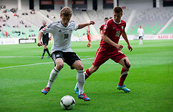 Maximilian Meyer of Germany vs Karol Zwir of Poland during the UEFA European Under-17 Championship Semifinal match between Germany and Poland on May 13, 2012 in SRC Stozice, Ljubljana, Slovenia. Germany defeated Poland 1-0 and qualified to finals. (Photo by Vid Ponikvar / Sportida.com)