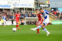 Lee Brown of Bristol Rovers takes a shot at goal - Mandatory by-line: Dougie Allward/JMP - 28/10/2017 - FOOTBALL - Memorial Stadium - Bristol, England - Bristol Rovers v Milton Keynes Dons - Sky Bet League One
