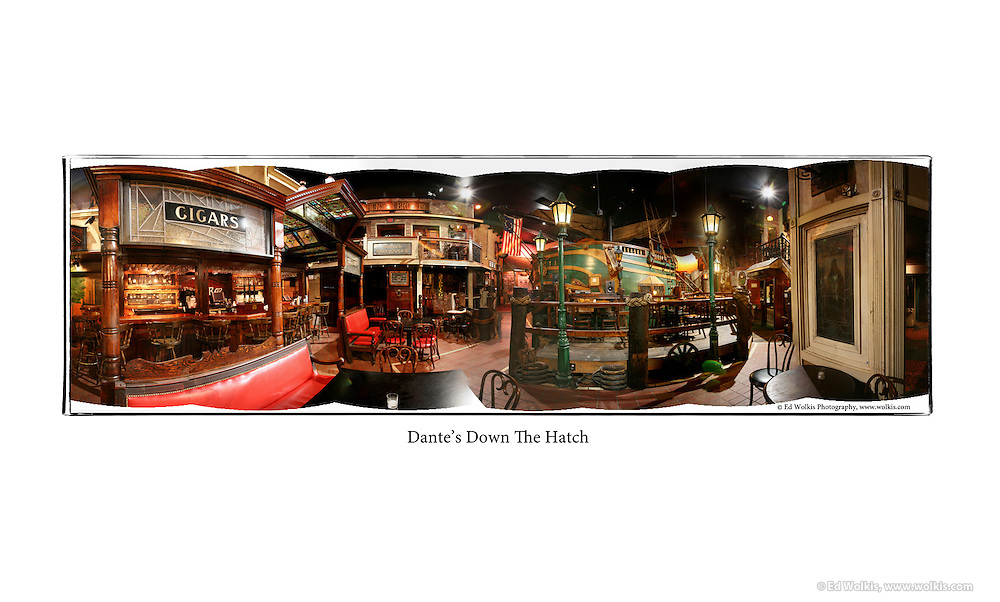 Dantes Down the Hatch restaurant photography by Atlanta Architectural Photographer Ed Wolkis