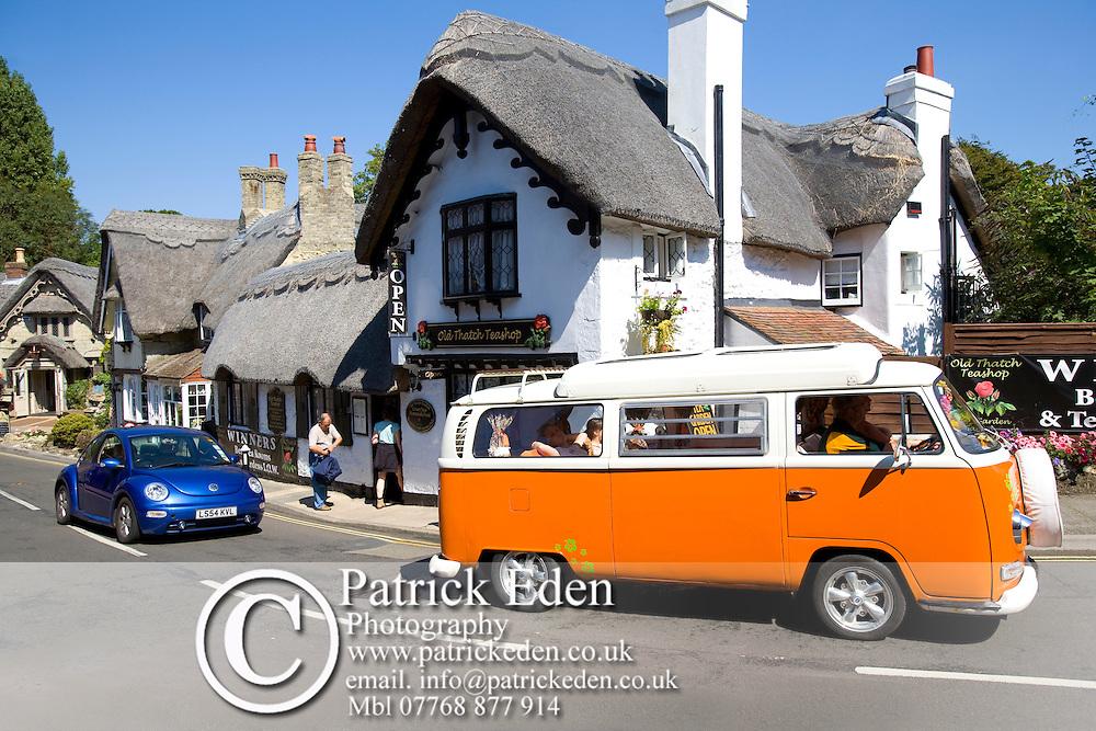 Volkswagon Camper Van, Crab Inn, Pub, Shanklin, old village, Isle of Wight, England, UK Photographs of the Isle of Wight by photographer Patrick Eden photography photograph canvas canvases