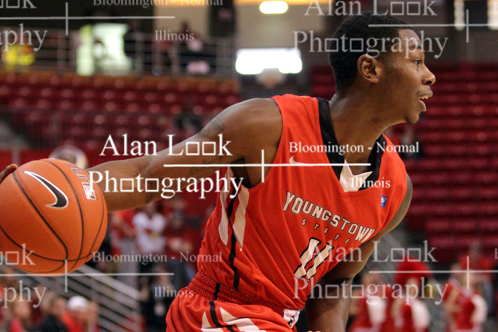 29 November 2014:  DJ Cole during an NCAA men's basketball game between the Youngstown State Penguins and the Illinois State Redbirds  in Redbird Arena, Normal IL.