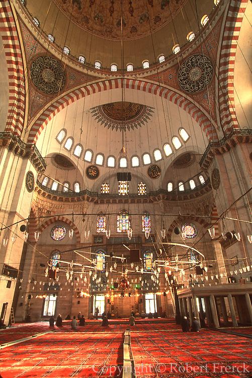 TURKEY, ISTANBUL, OTTOMAN Suleymaniye Mosque by Sinan 1550-57