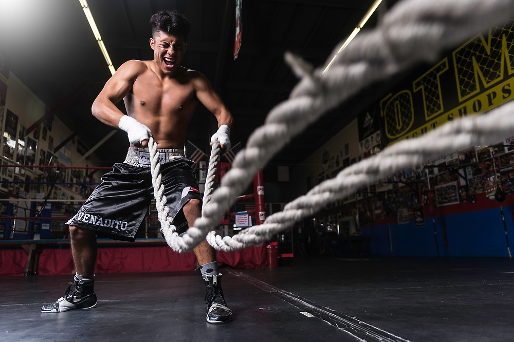 Photoshoot with Raul Salomon at Grampas Boxing Gym in Westminster, California on December 16, 2017 .