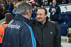 PRESTON, ENGLAND - Saturday, January 3, 2009: Liverpool's manager Rafael Benitez and Preston North End's manager Alan Irvine during the FA Cup 3rd Round match at Deepdale. (Photo by David Rawcliffe/Propaganda)