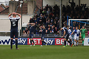 Southend United Anthony Wordsworth (4) looks frustrated after another missed opportunity second half during the EFL Sky Bet League 1 match between Bristol Rovers and Southend United at the Memorial Stadium, Bristol, England on 11 March 2017. Photo by Gary Learmonth.