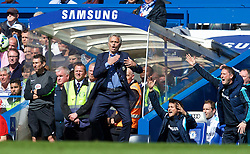 LONDON, ENGLAND - Sunday, May 3, 2015: Chelsea's manager Jose Mourinho during the final moments of the Premier League match against Crystal Palace at Stamford Bridge. (Pic by David Rawcliffe/Propaganda)