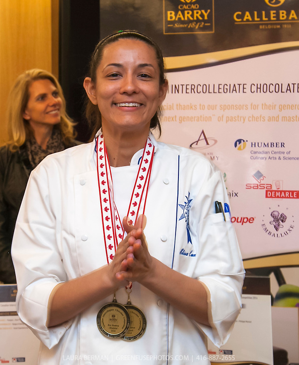 Merciane Elisa Luz Pinto, overall winner of the Canadian Intercollegiate Chocolate Competition April 12-13, 2014