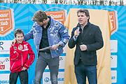 2018-030-21. DVSU, Utrecht. Kick-off sportplaatjesactie. Op de foto: Jelle Dijkman, Tim Douwsma en Toine van Peperstraten