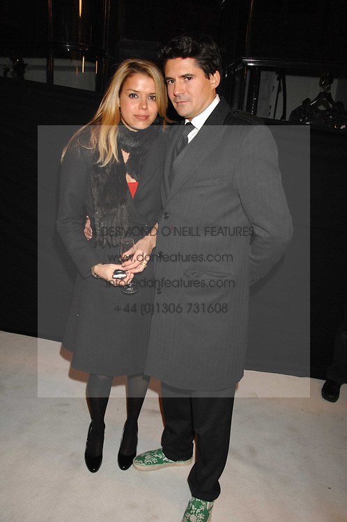 EDWARD TAYLOR and SABINA ROEMER at a party to celebrate the opening of the new Beatrix Ong store in Burlington Arcade, Piccadilly, London on 14th November 2007.<br />