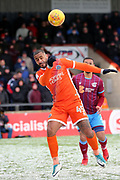 Shrewsbury Town forward Stefan Payne (45)  during the EFL Sky Bet League 1 match between Scunthorpe United and Shrewsbury Town at Glanford Park, Scunthorpe, England on 17 March 2018. Picture by Mick Atkins.