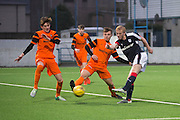 Dundee' s Ian Smith makes it 3-3 - Dundee v Dundee United in the SPFL Development League at Links Park, Montrose. Photo: David Young<br /> <br />  - &copy; David Young - www.davidyoungphoto.co.uk - email: davidyoungphoto@gmail.com