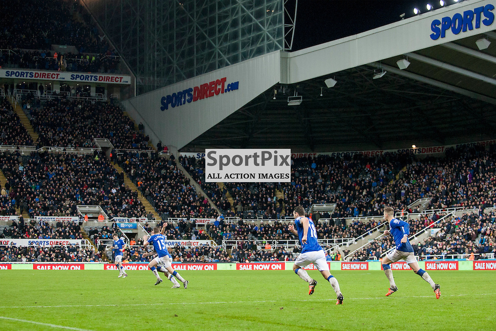 Tom Cleverley scores the only goal of the match in the Newcastle v Everton 26 December 2015<br /><br />(c) Russell G Sneddon / SportPix.org.uk