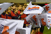 Flag bearers during the Guinness Pro 14 2018_19 match between Edinburgh Rugby and Benetton Treviso at Murrayfield Stadium, Edinburgh, Scotland on 28 September 2018.