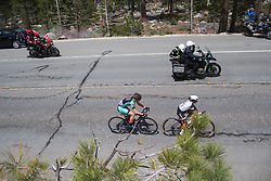 Lily Williams (USA) of Hagens-Berman Supermint Cycling Team and Coryn Rivera (USA) of Team Sunweb ride in the break on Stage 2 of the Amgen Tour of California - a 108 km road race, starting and finishing in South Lake Tahoe on May 18, 2018, in California, United States. (Photo by Balint Hamvas/Velofocus.com)