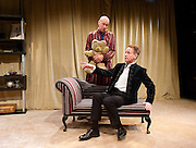 The Green Bay Tree <br /> by Mordaunt Shairp<br /> at the Jermyn Street Theatre, London, Great Britain <br /> press photocall <br /> 26th November 2014 <br /> directed by Tim Luscombe<br /> <br /> <br /> Richard Sterling as Mr Dulcimer<br /> <br /> Alister Cameron as Trump <br /> <br /> <br /> Photograph by Elliott Franks <br /> Image licensed to Elliott Franks Photography Services