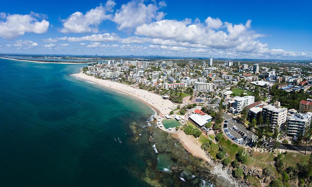 Aerial photograph of Kings Beach, Caloundra, Sunshine Coast, Queensland, Australia