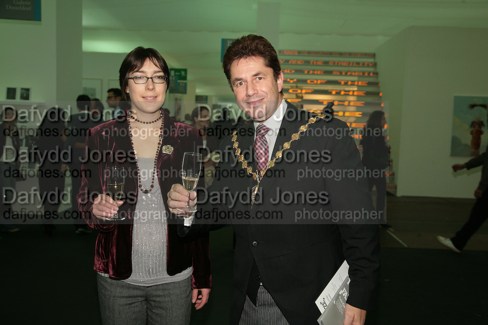 DP LORD MAYOR OF WESTMINSTER TIM  AND RONA JOIINER.  Opening of the Frieze Art Fair. Regents Park. London. 10 October 2007. -DO NOT ARCHIVE-© Copyright Photograph by Dafydd Jones. 248 Clapham Rd. London SW9 0PZ. Tel 0207 820 0771. www.dafjones.com.