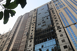 March 29, 2019 - Dhaka, Bangladesh - A views of burnt building in Dhaka, Bangladesh on March 29, 2019. At least 25 people were killed and 70 others injured in a fire that broke out at 22-storey FR tower in Dhaka earlier this day. (Credit Image: © Rehman Asad/NurPhoto via ZUMA Press)