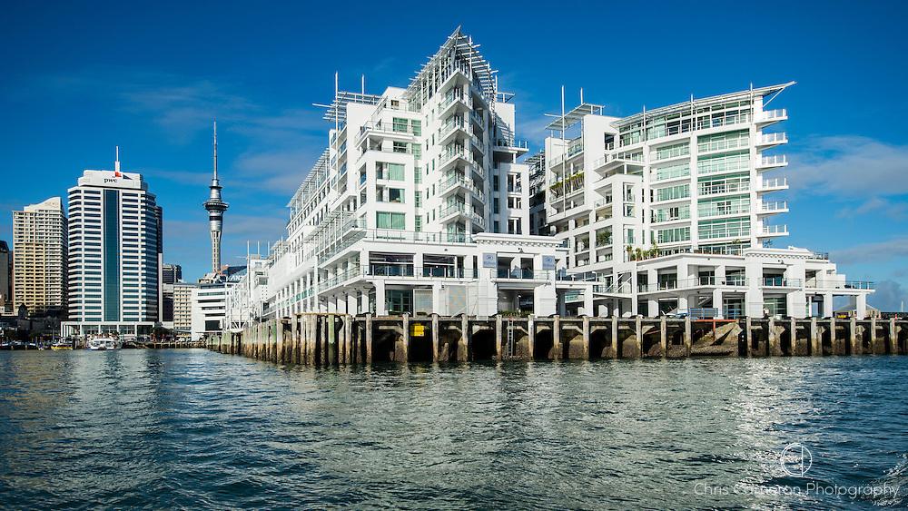 Princes Wharf and the Hilton Hotel. Auckland, New Zealand.
