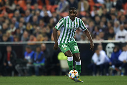 February 28, 2019 - Valencia, Valencia, Spain - William of Betis controls the ball during the Copa del Rey Semi Final match second leg between Valencia CF and Real Betis Balompie at Mestalla Stadium in Valencia, Spain on February 28, 2019. (Credit Image: © Jose Breton/NurPhoto via ZUMA Press)