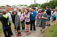 Elm Street  Elementary School students walk from school to and around Leavitt Park for WALK NH.    Karen Bobotas / for the Laconia Daily Sun