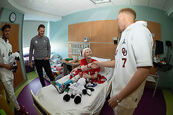 Oklahoma Sooners head coach Lincoln Riley and players visit Children's Healthcare of Atlanta - Scottish Rite on Thursday, Dec. 26, in Atlanta. Oklahoma will face LSU in the 2019 College Football Playoff Semifinal at the Chick-fil-A Peach Bowl. (Paul Abell via Abell Images for the Chick-fil-A Peach Bowl)