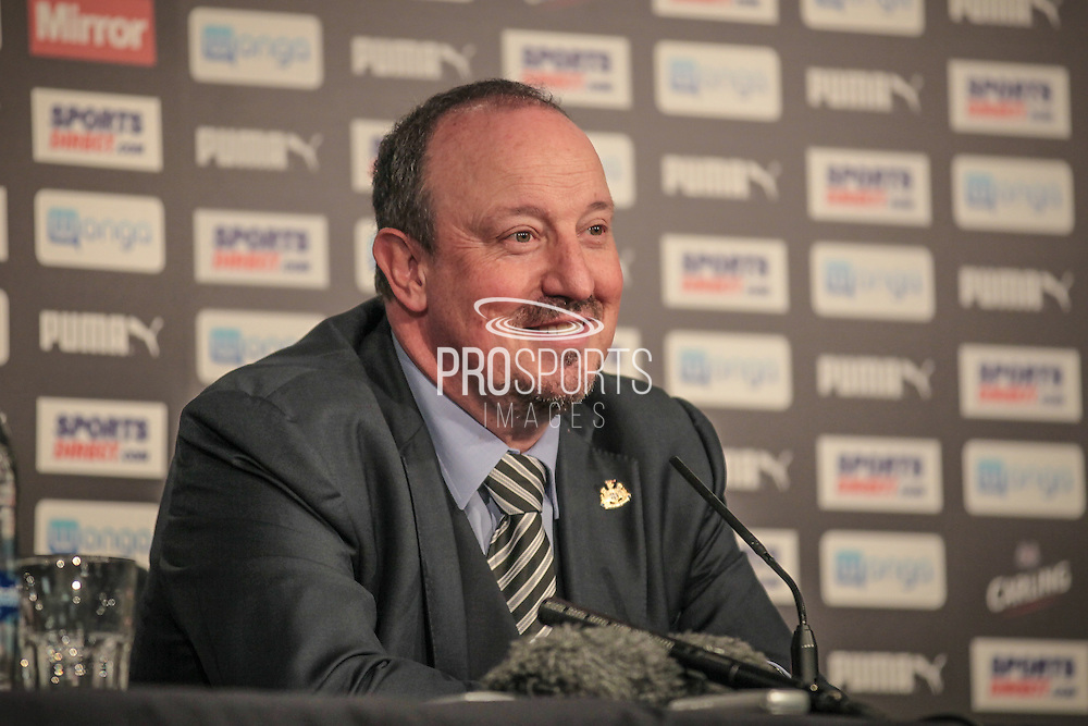 A relaxed Rafael Benítez (Manager) (Newcastle United) after the EFL Cup 4th round match between Newcastle United and Preston North End at St. James's Park, Newcastle, England on 25 October 2016. Photo by Mark P Doherty.