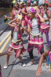Young dancers having fun at the Nottingham City Carnival; 2007,
