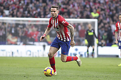 February 9, 2019 - Madrid, Madrid, Spain - Saul of Atletico de Madrid in action during La Liga Spanish championship, , football match between Atletico de Madrid and Real Madrid, February 09th, in Wanda Metropolitano Stadium in Madrid, Spain. (Credit Image: © AFP7 via ZUMA Wire)