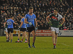 Getting Shirty&hellip; Dublin&rsquo;s Ciaran Kilkenny and Mayo&rsquo;s Lee Keegan at the Mayo v Dublin league match at McHale park.<br /> Pic Conor McKeown