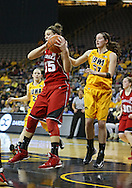 February 11 2013: Nebraska Cornhuskers forward Jordan Hooper (35) pulls down a rebound during the first half of the NCAA women's basketball game between the Nebraska Cornhuskers and the Iowa Hawkeyes at Carver-Hawkeye Arena in Iowa City, Iowa on Monday, February 11 2013.