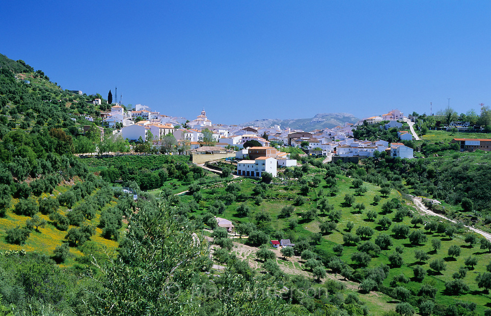 Cortes de la Frontera, an andalucian white village (pueblo blanco) in the Serrania de Ronda, Spain