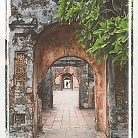 Old Hue citadel in central Vietnam