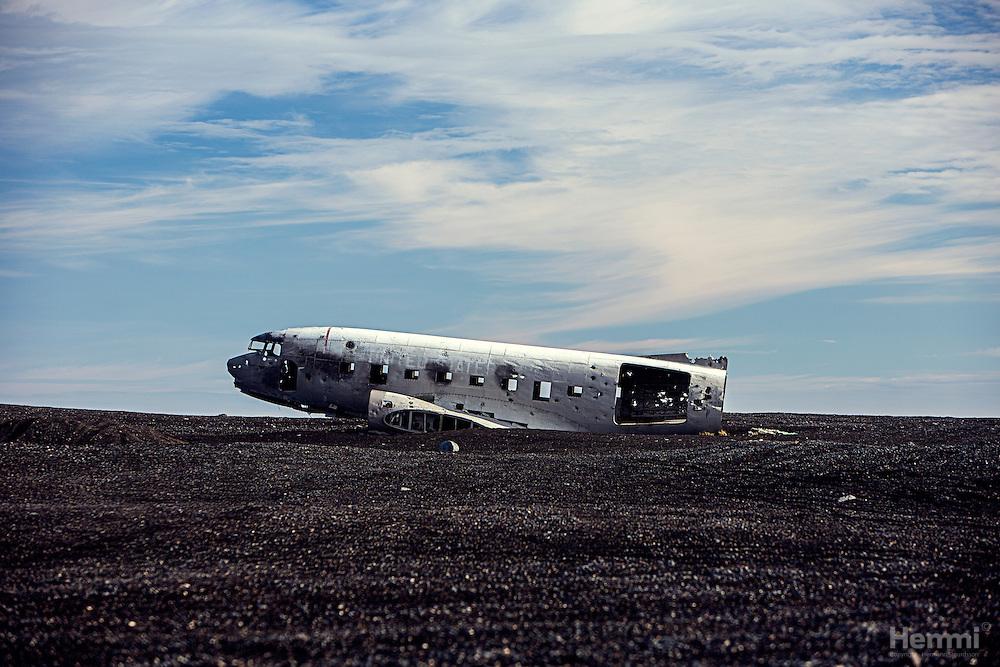 Crashed DC3 on Solheimasandur
