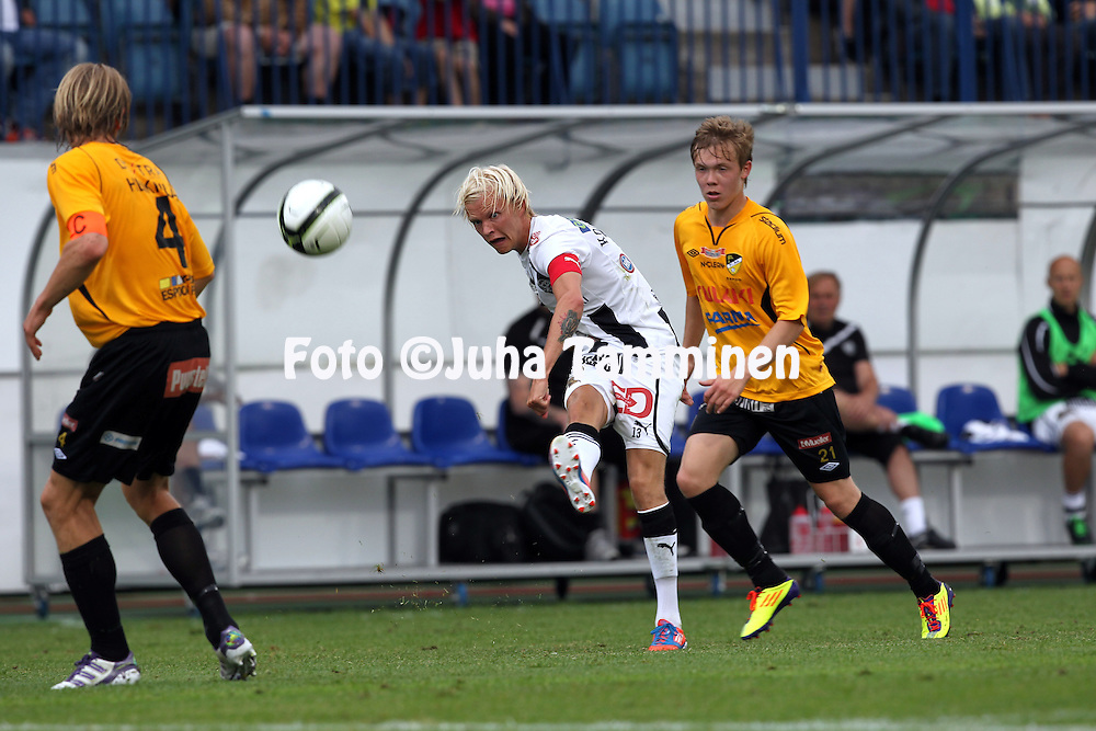 9.7.2012, Veritas stadion (Kupittaa), Turku..Veikkausliiga 2012..FC TPS Turku - FC Honka..Toni Kolehmainen - TPS.