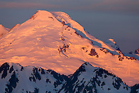 Dawn on Mount Baker (elevation 10,778feet (3,285m) seen from Goat Mountain, North Cascades Washington USA